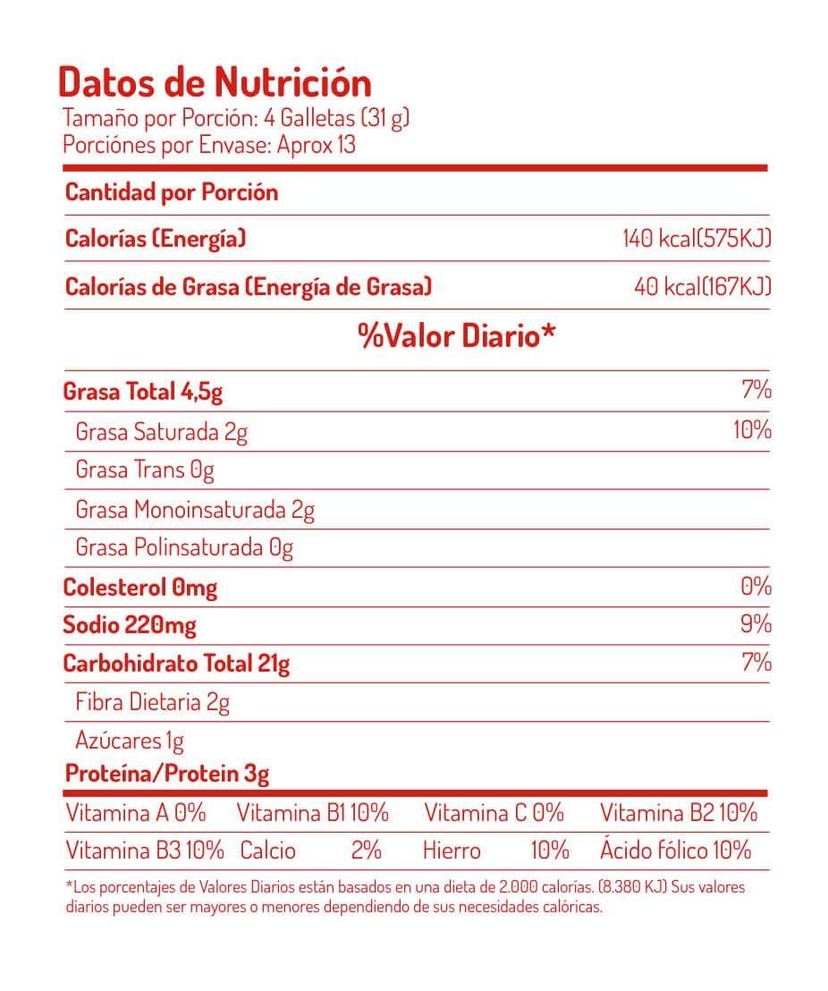 Saltn noel integral saltn noel tabla nutricional ccuart Choice Image