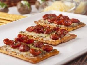 Galletas saltin noel maiz con chorizo y doble queso