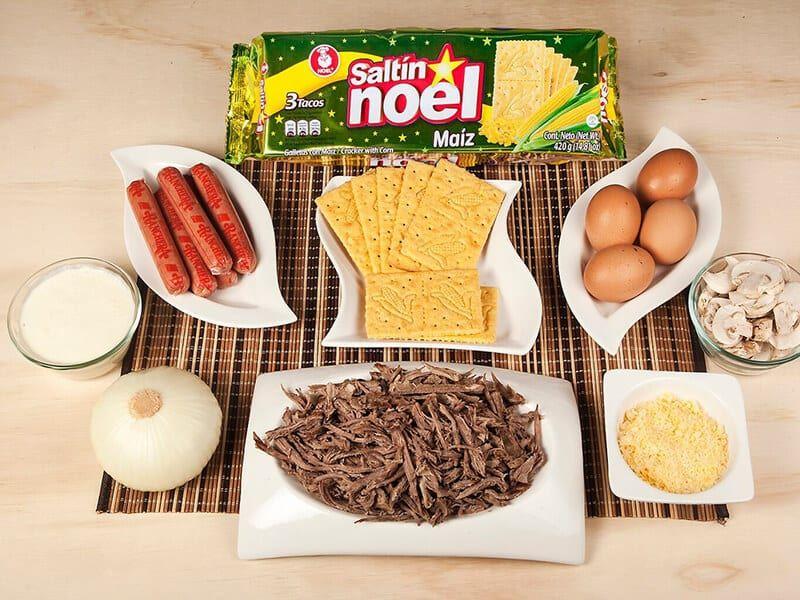 Molde saltin noel maiz con carne desmechada saltin noel paso 6