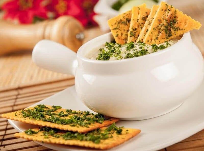 Receta crema de maiz con galletas saltin noel queso y mantequilla