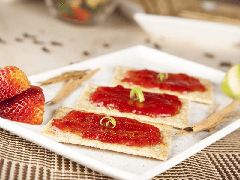 Receta galletas saltin noel integral con mermelada de fresa saltin noel