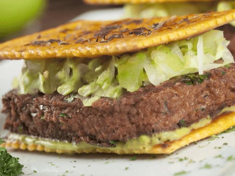 Receta hamburguesa de galletas saltin noel