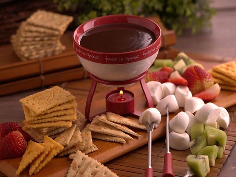 Receta saltin noel fondue chocolate