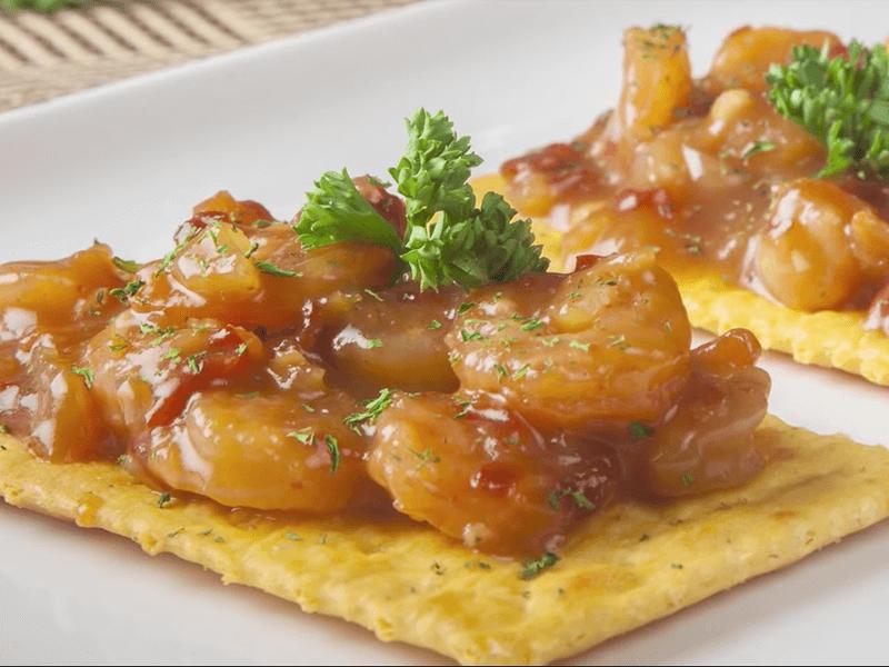 Receta saltin noel galletas saltin noel queso y mantequilla con camarones salteados en tamarindo