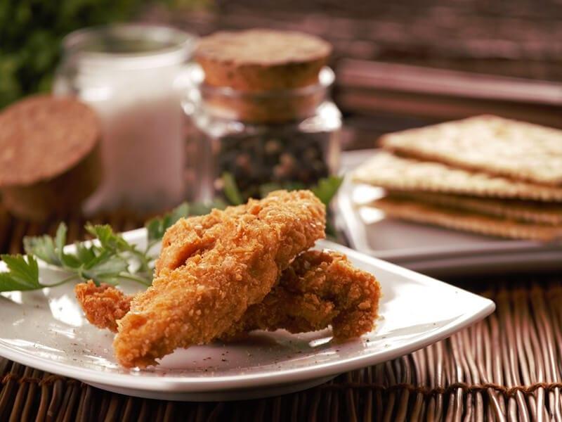 Receta saltin noel julianas de pollo apanado