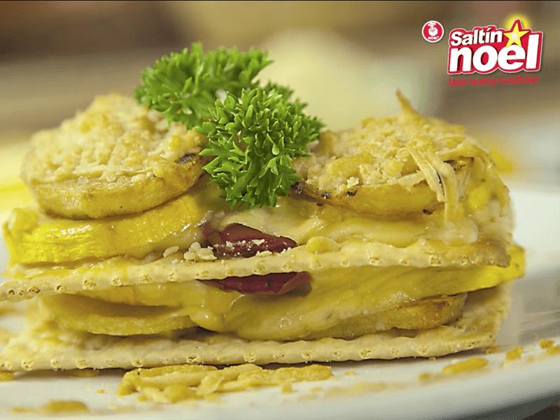 Receta saltin noel milhojas de papa y queso con galletas saltin noel tradicional