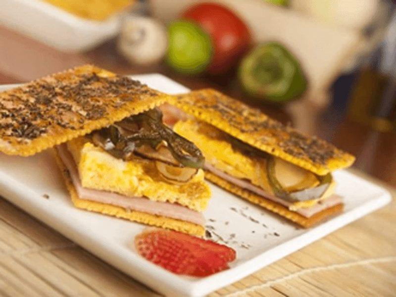 Receta sandwich de saltin noel queso y mantequilla