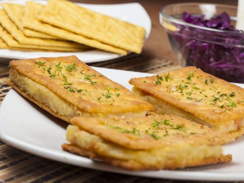 Receta sandwich de saltin noel maiz apanado