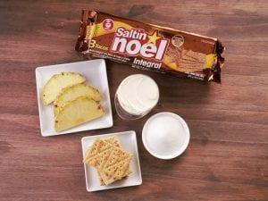 Saltin noel bocadito de queso crema paso 1