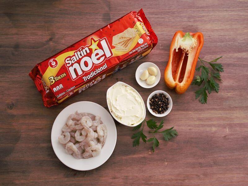 Saltin noel camarones tradicionales paso 1