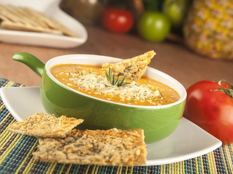 Saltin noel crema de tomate con salti noel tradicional