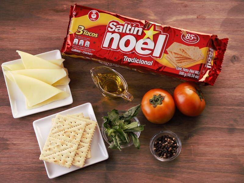 Saltin noel ensalada caprese paso 1