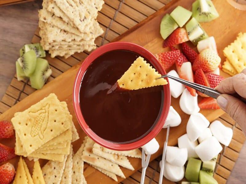 Salin noel fondue chocolate paso 9