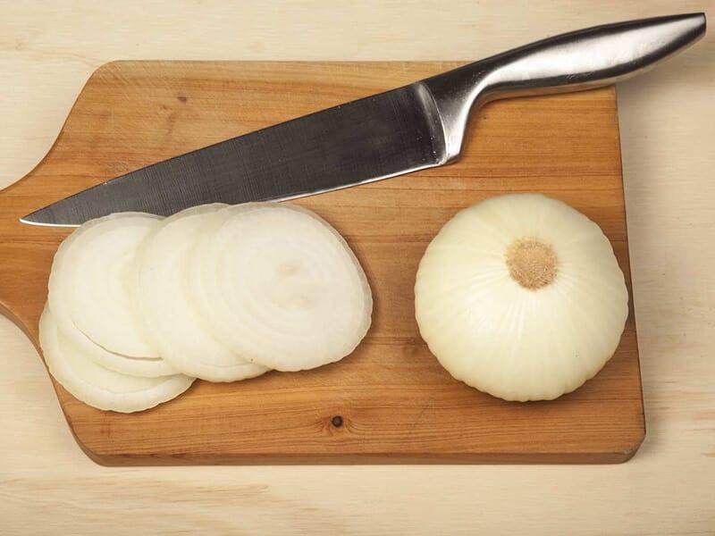 Saltin noel integral de jamon cebollas paso 2
