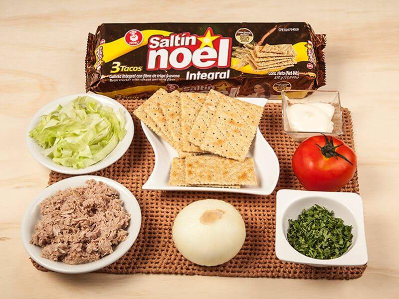 Saltin noel integral galletas con atun paso 1