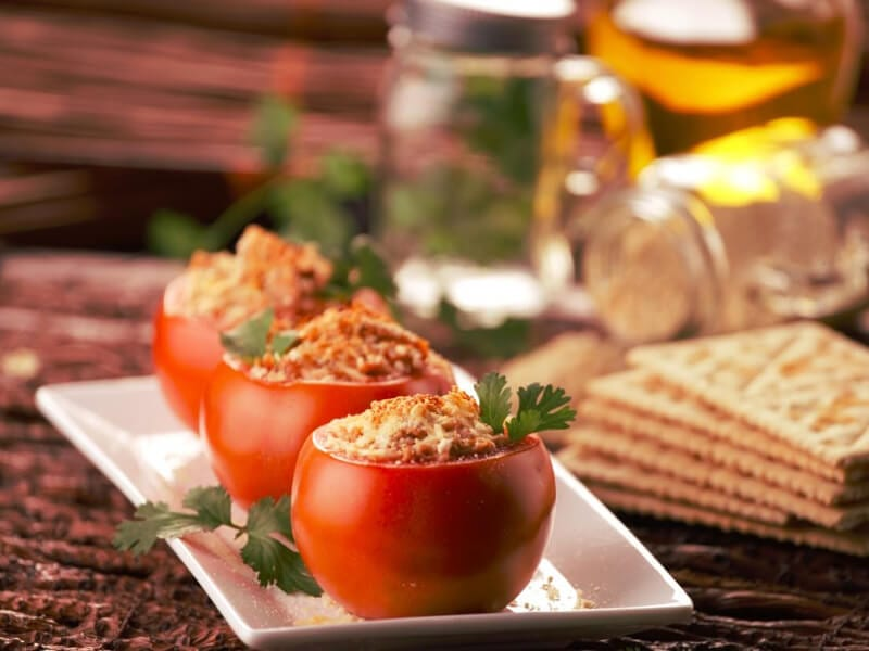 Saltin noel tomates rellenos con galletas