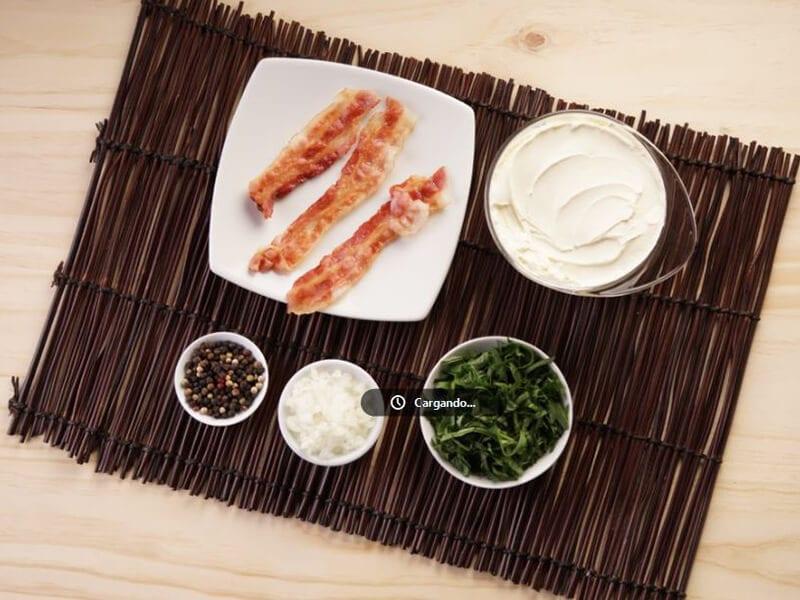 Saltin noel tradicional con dip de tocineta y espinaca paso 2