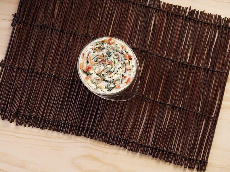 Saltin noel tradicional con dip de tocineta y espinaca paso 4