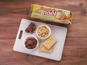 Saltin noel turron de chocolate paso 1