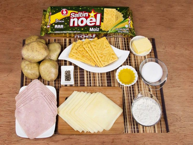 Sandwich de saltin noel maiz apanado saltin noel paso 1