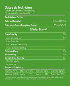Tabla nutricional saltin noel maiz