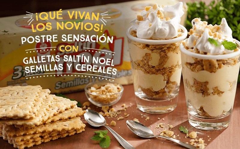 ¿Comidas para eventos sociales? Postre sensación con Galletas Saltín Noel Semillas y Cereales