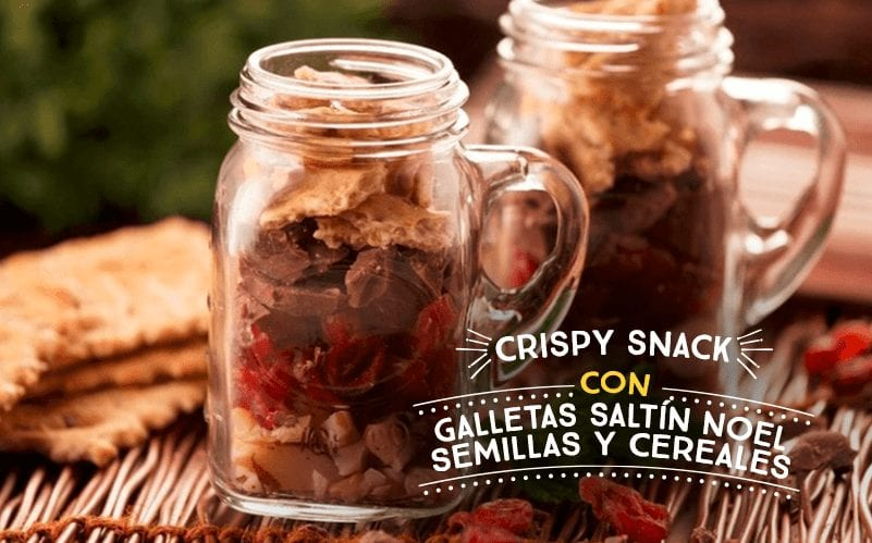 Crispy Snack con Galletas Saltín Noel Semillas y Cereales