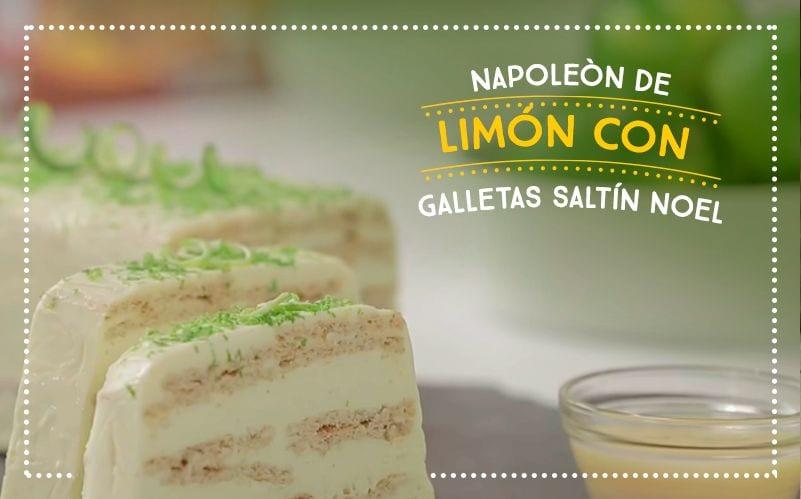 Napoleón de Limón con Galletas Saltín Noel
